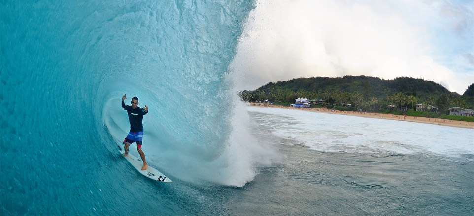 Diego Santos a todo vapor no North Shore!
